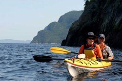 Kayak de mer sur le Fjord