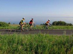 Vélo sur la Route des Bleuets