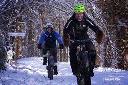 En Fat bike, Vallée-Bras-du Nord - © Philippe-Jobin