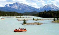Rafting sur l'Athabasca - Parc de Jasper
