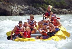 Rafting sur la Rivière Athabasca, Jasper