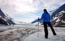 Randonnée sur le glacier Athabasca, Jasper, AB