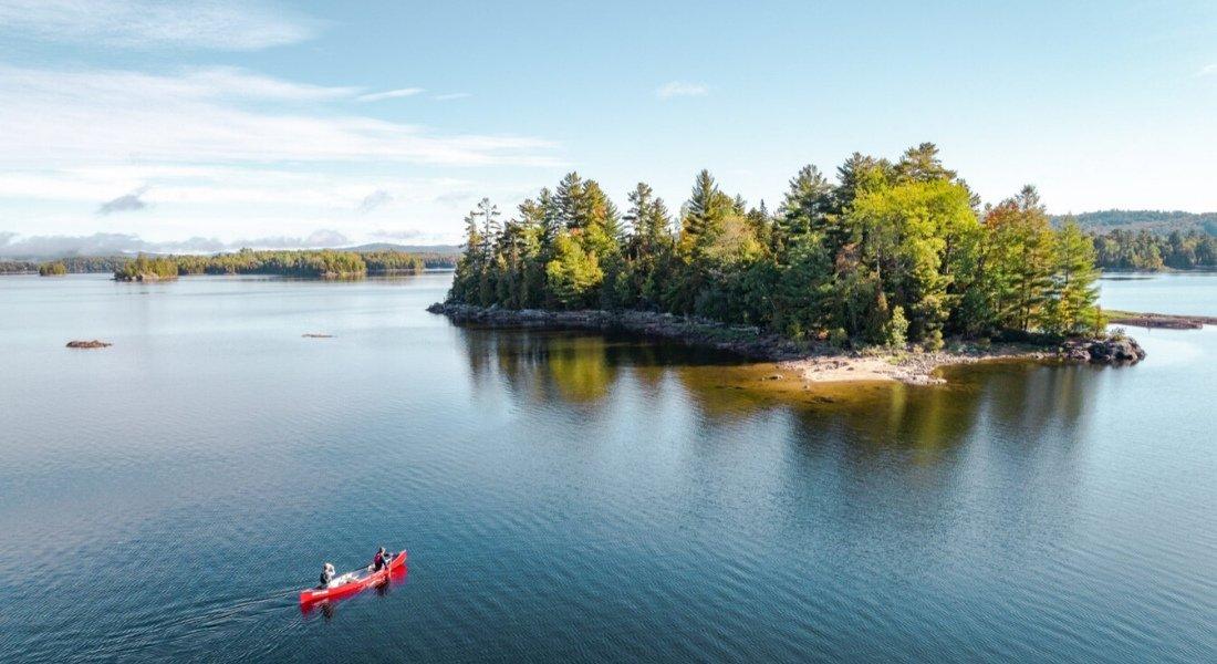 camping sur une île Québec
