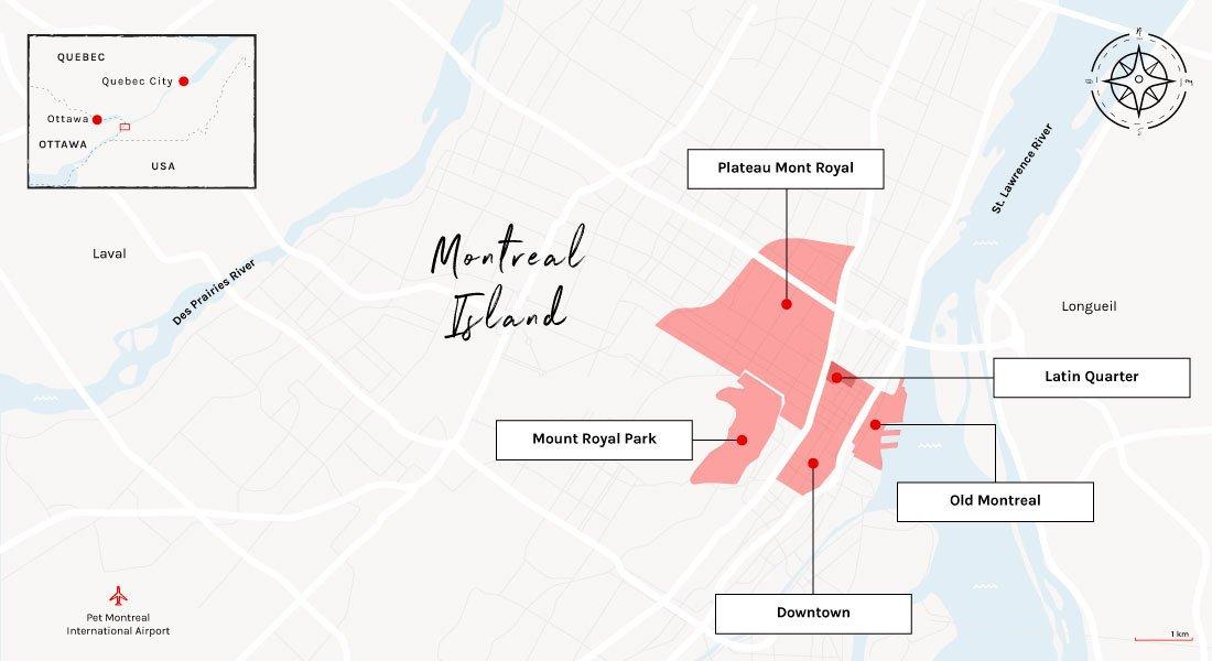 map montreal neighborhoodss