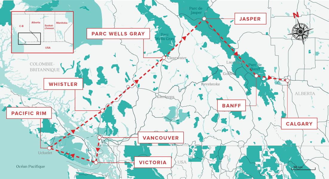 Carte Ouest Canadien Et Americain.L Ultime Road Trip Dans L Ouest Canadien