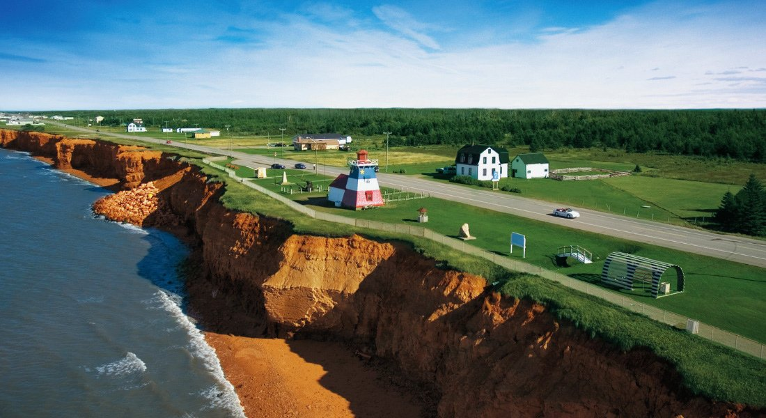 Acadian coast from the air