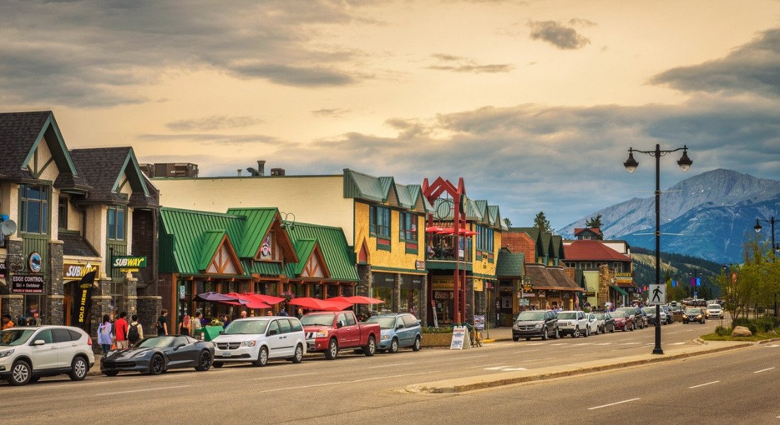 Vilalge de Jasper en Alberta