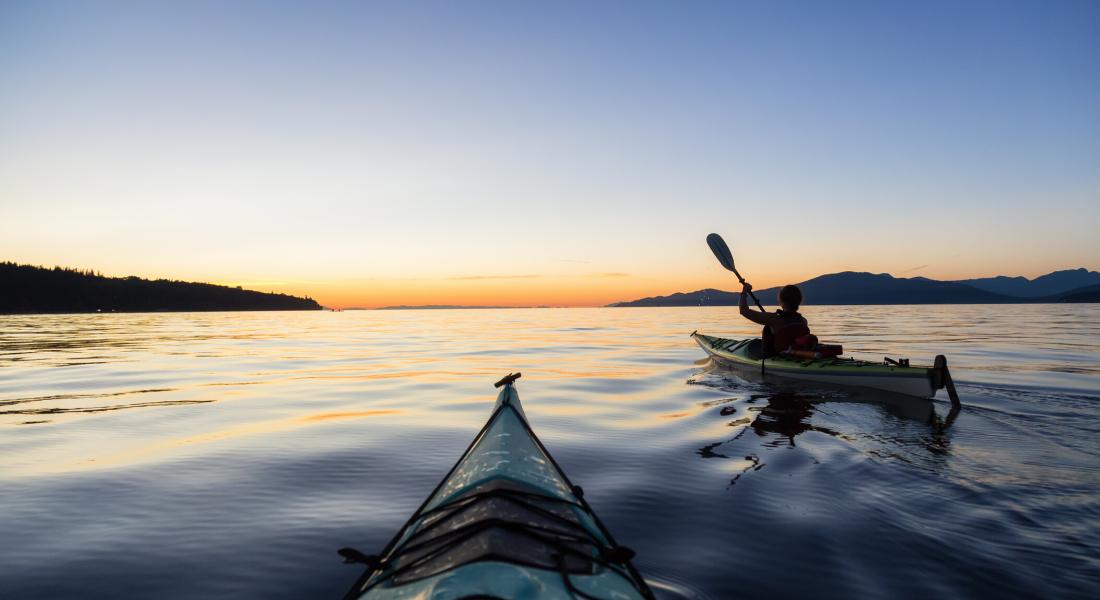 Kayakistes sur le Fjord du Saguenay