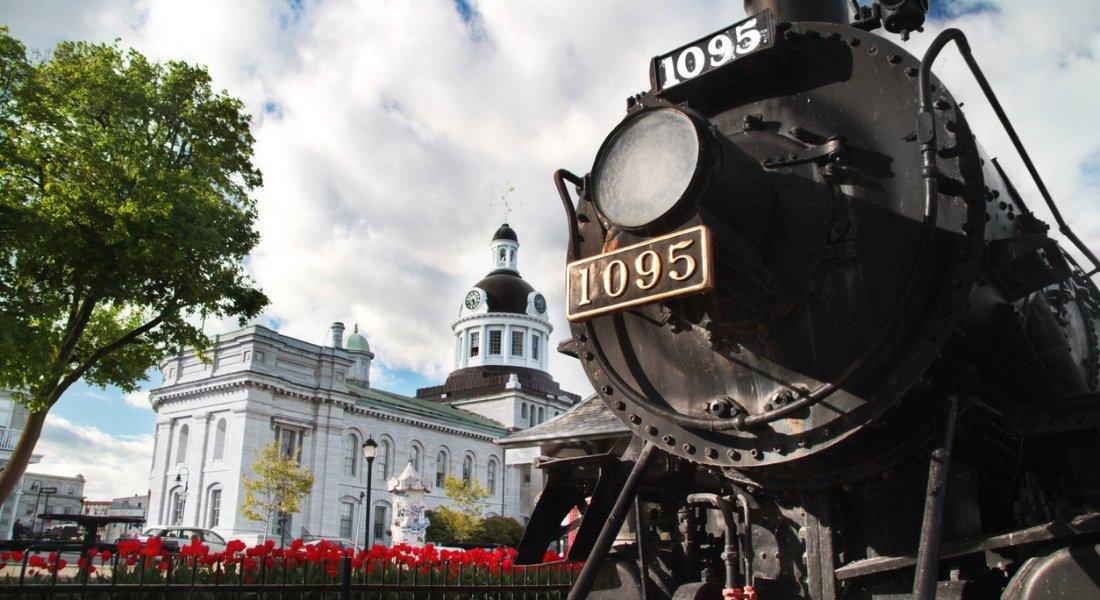 Engine 1095 au centre-ville de Kingston