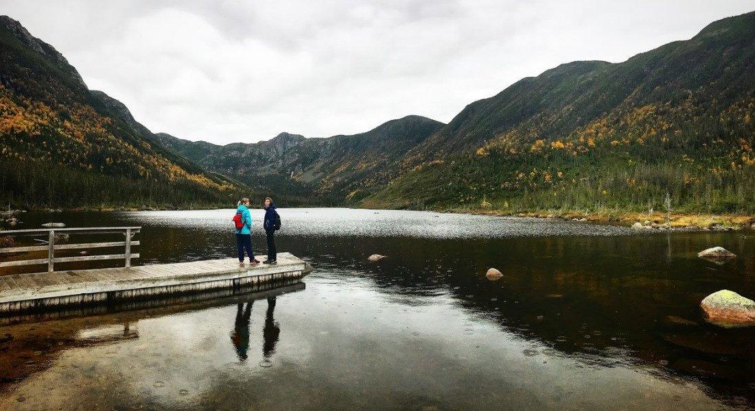 Randonnée en famille jusqu'au Lac aux Américains en Gaspésie