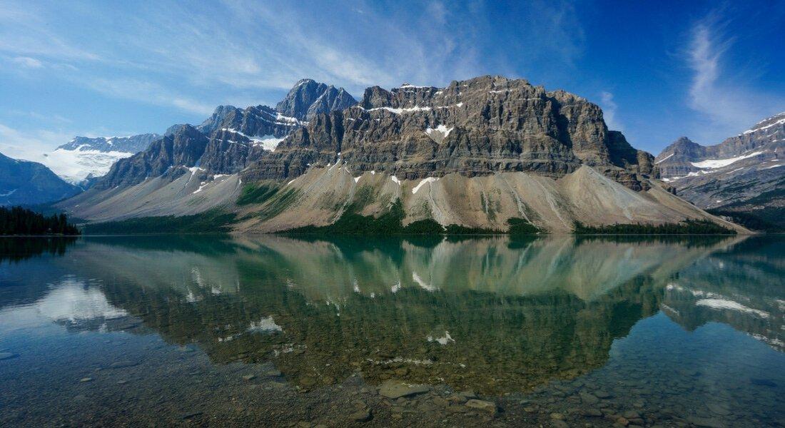 Le Lac Bow, Parc national de Banff dans les Rocheuses canadiennes