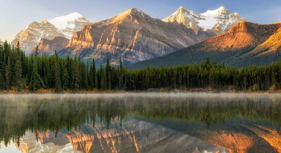 Le Lac Herbert dans le Parc national de Banff en Alberta