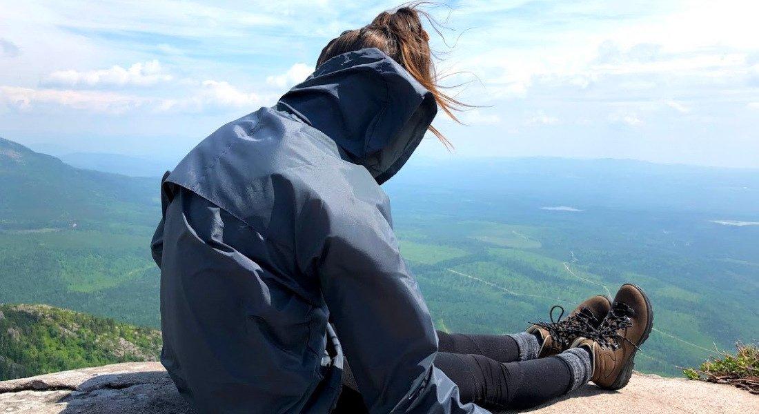 Vue au sommet du sentier de Mont-du-Lac-des-Cygnes