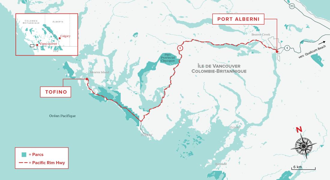 Pacific Rim Highway map
