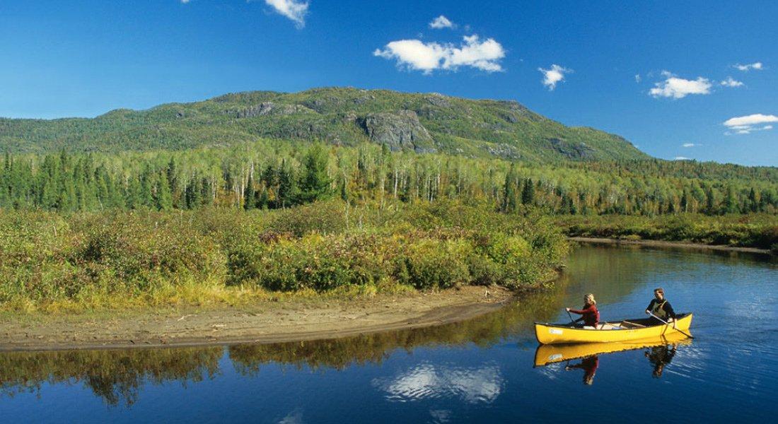 Canot au Saguenay dans le parc national des Monts-Valins