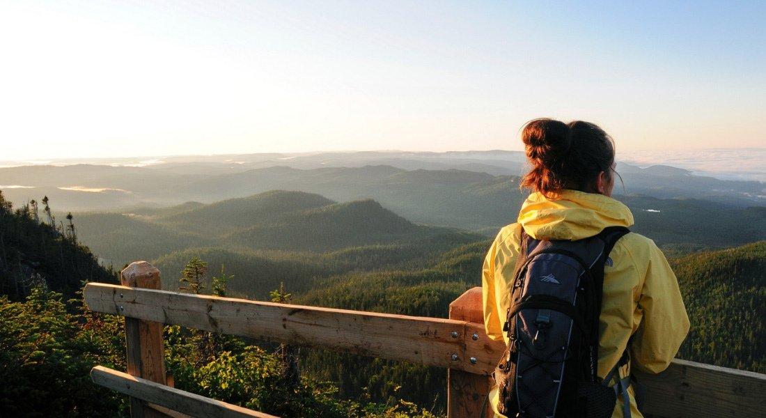 Vue sur les Monts Valin