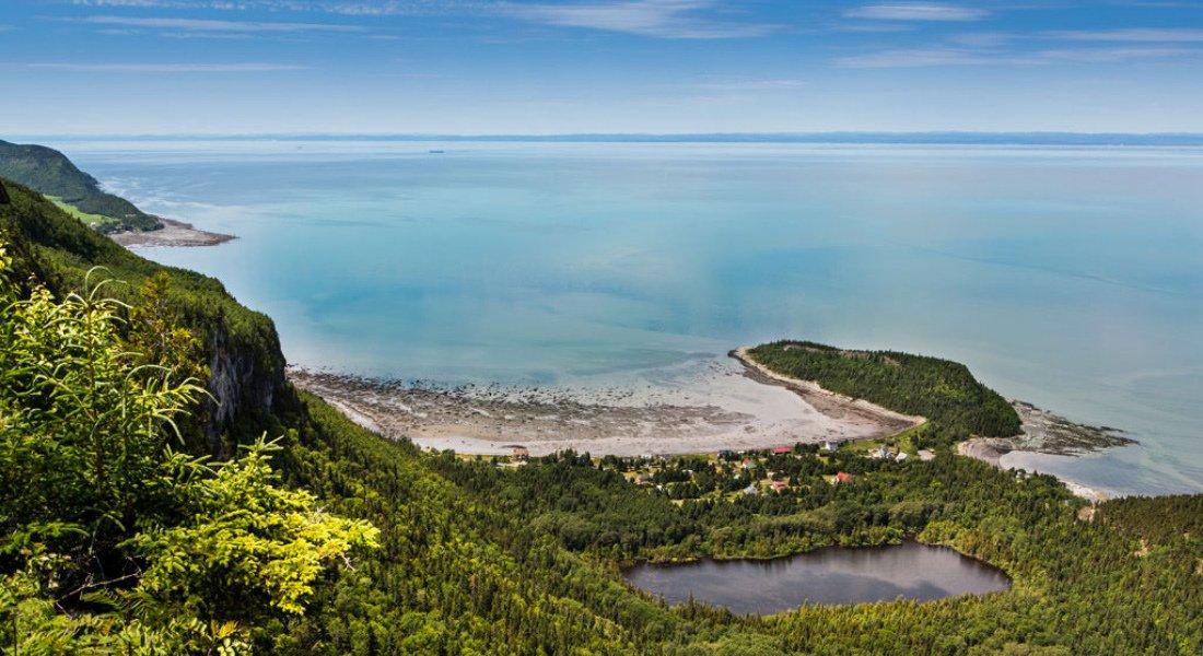 Vue du belvédère du Pic Champlain en Gaspésie