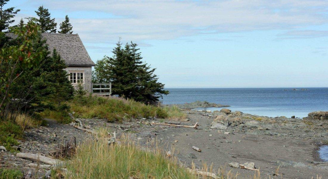 Vue au parc national du Bic en Gaspésie