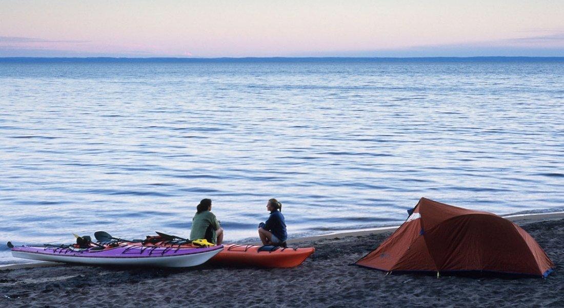 Camping avec plage au Québec