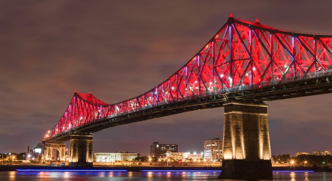Pont Jacques-Cartier en soirée