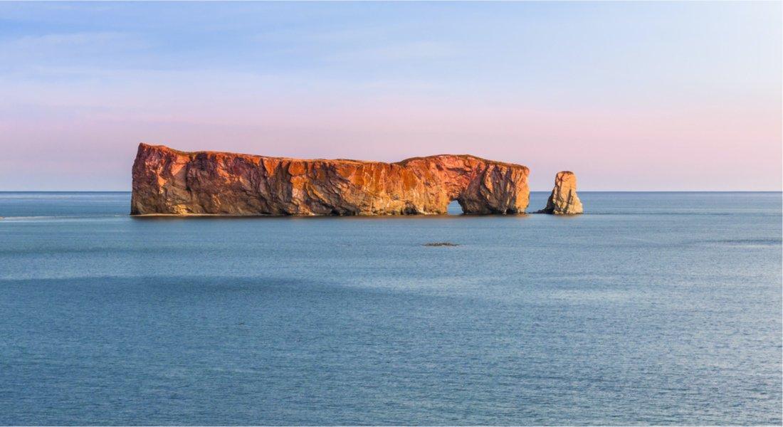 Le Rocher Percé au coucher du soleil