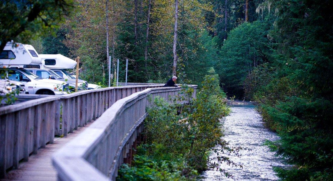 Village de Stewart dans l'Ouest du Canada
