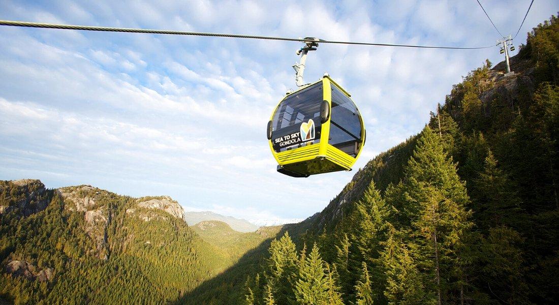 Télécabine Sea to Sky à Squamish en Colombie-Britannique,