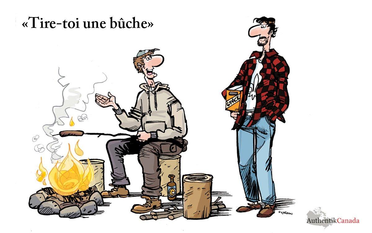 Expression québécoise tire toi une biche