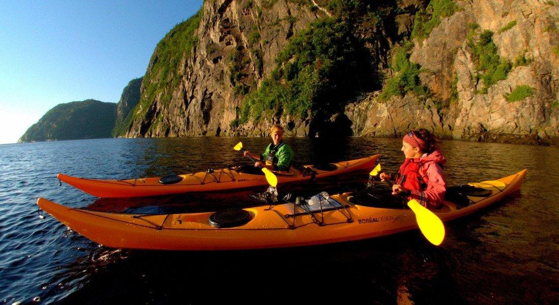 Observation des baleines au Québec en kayak