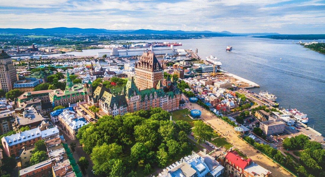 Vue sur la Ville de Québec et le fleuve St-Laurent