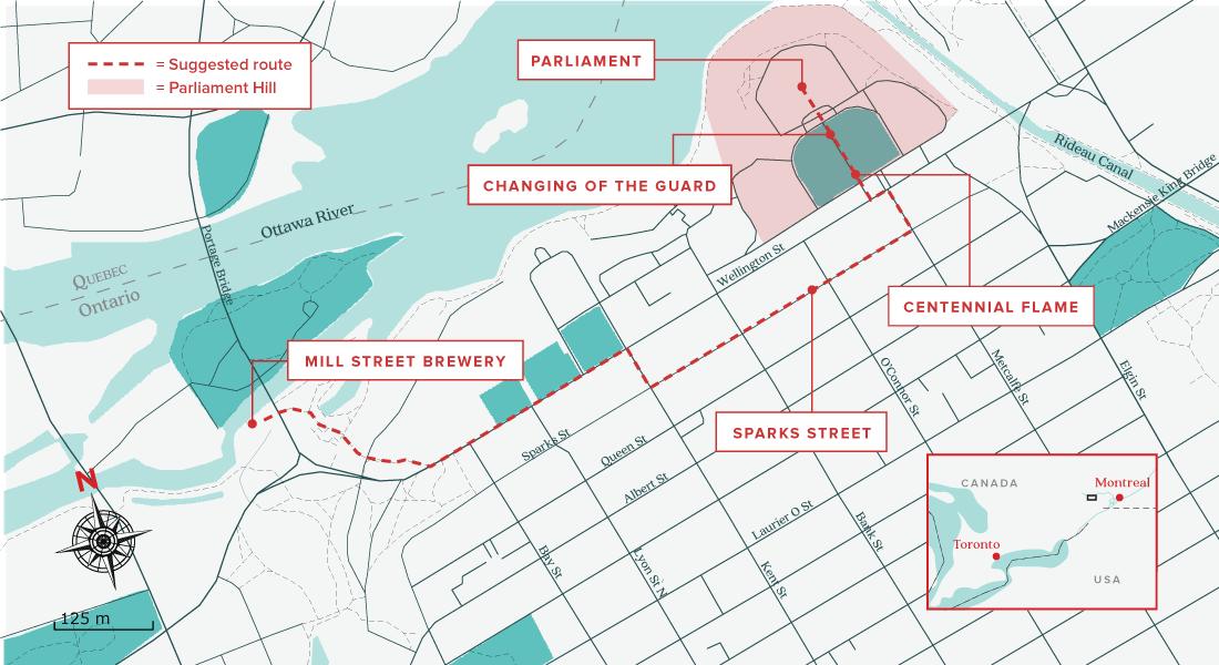 Ottawa activities map