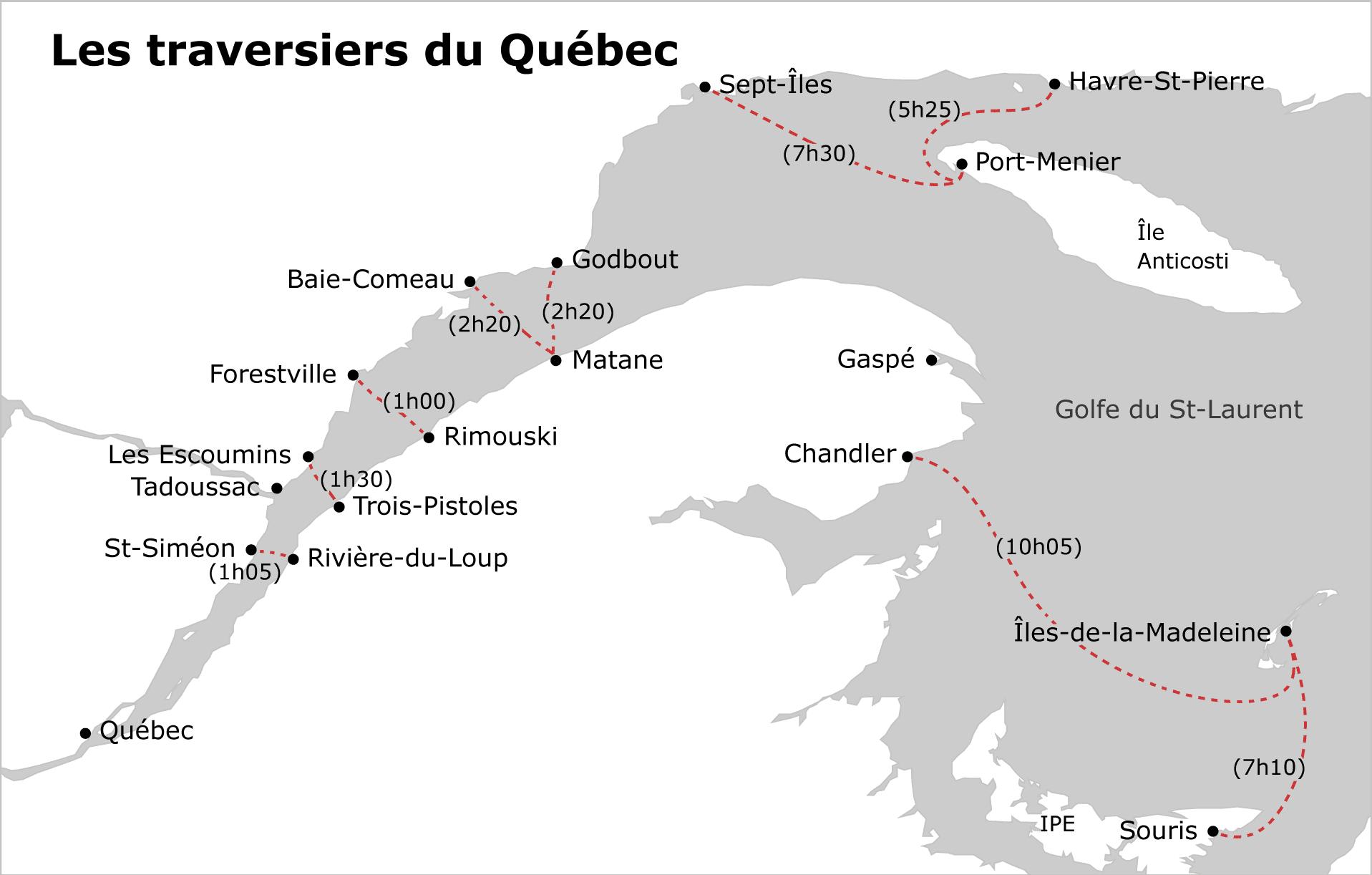 Traversiers au Québec