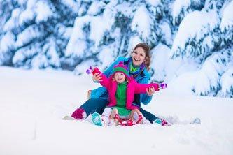 Voyager avec des enfants en hiver