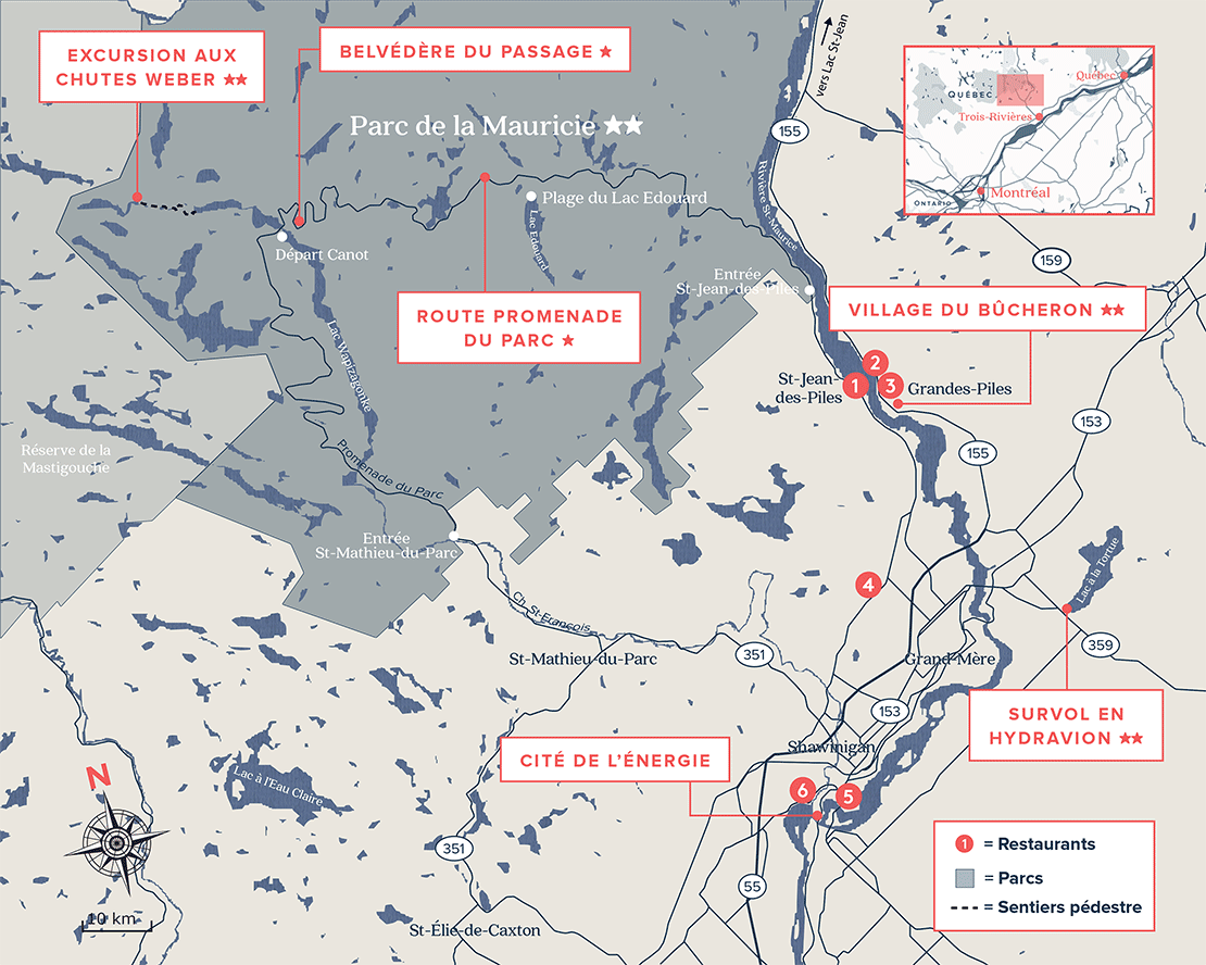 Carte Routière de la Mauricie