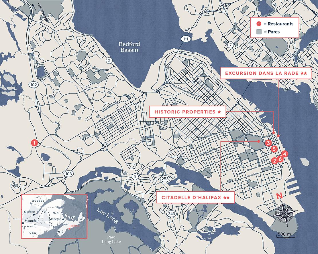 Carte géographique de Halifax