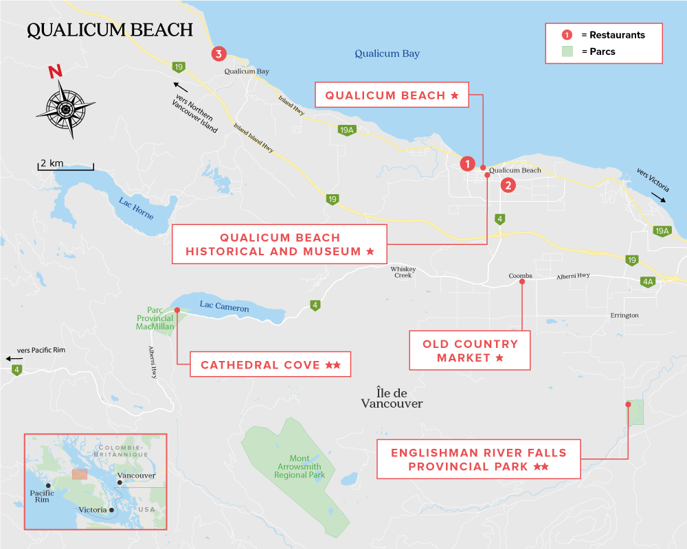 Qualicum Beach Map