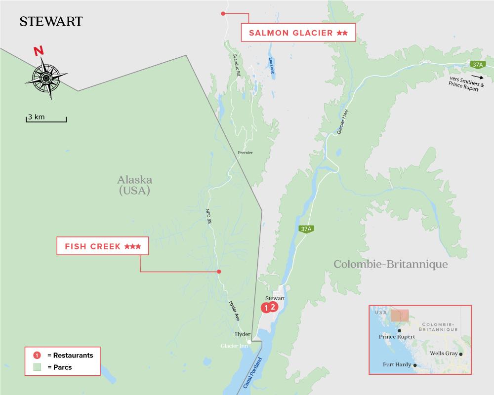 Carte de Stewart BC,