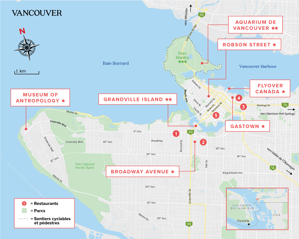 Carte de Vancouver Canada