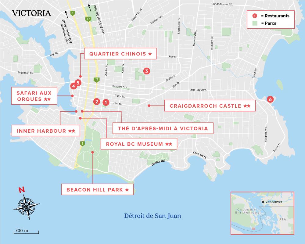 Carte de Victoria Vancouver Island