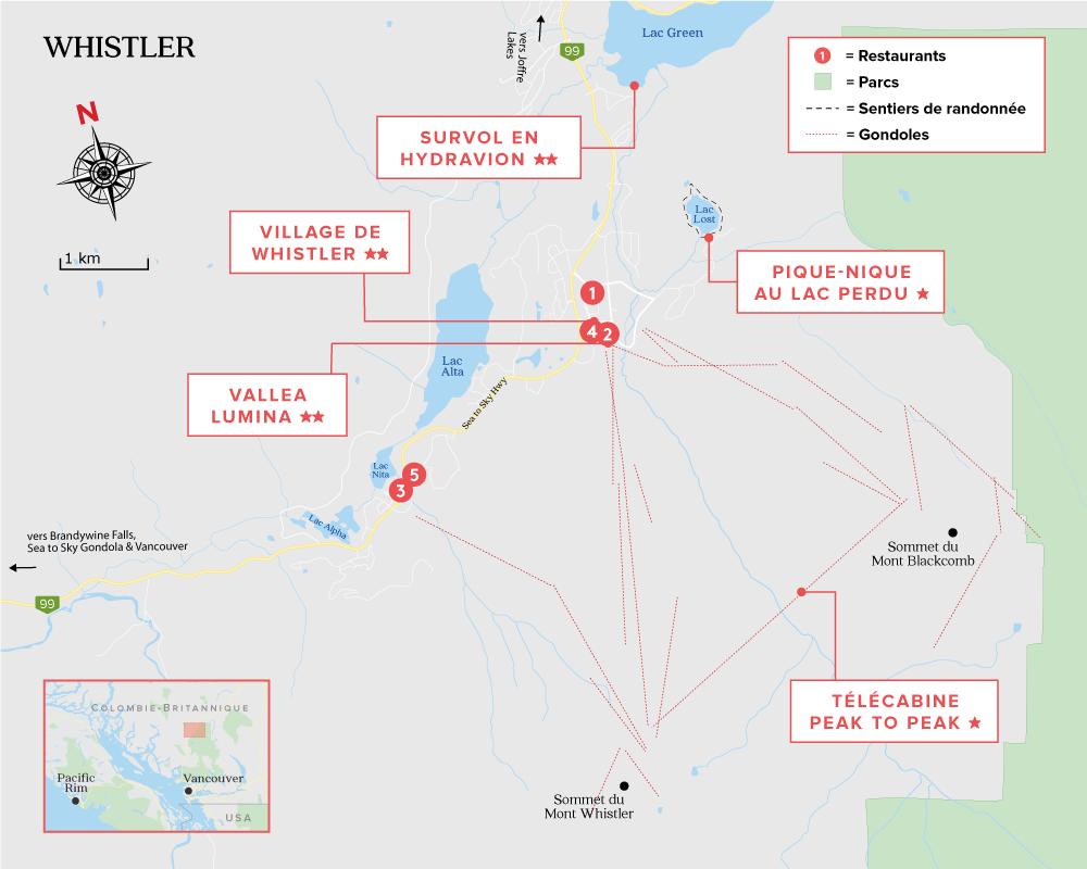 Whistler Canada carte