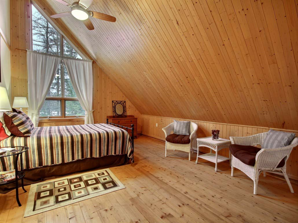 Chambre mezzanine Chalet Aurore-Boréale