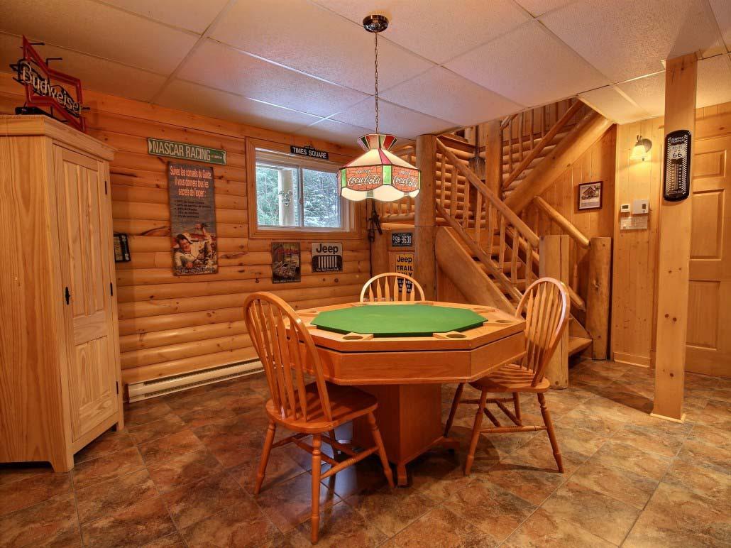 Table à poker Chalet Le Bercail