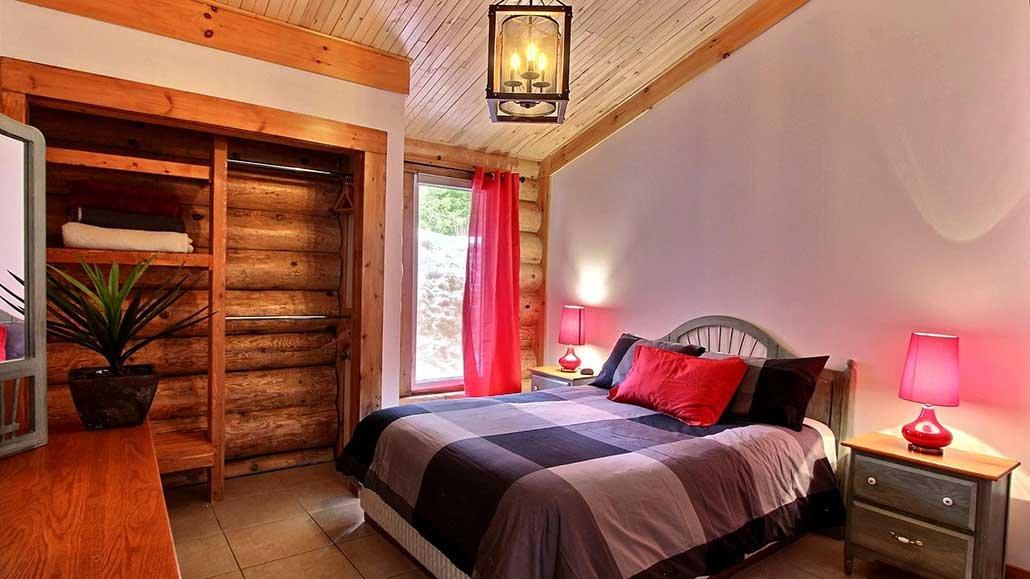 Chambre lit double Chalet Bernache