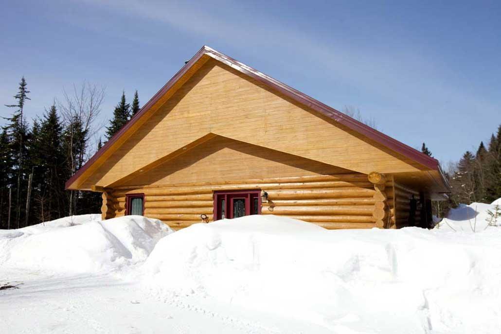 Chalet en bois rond La Bernache