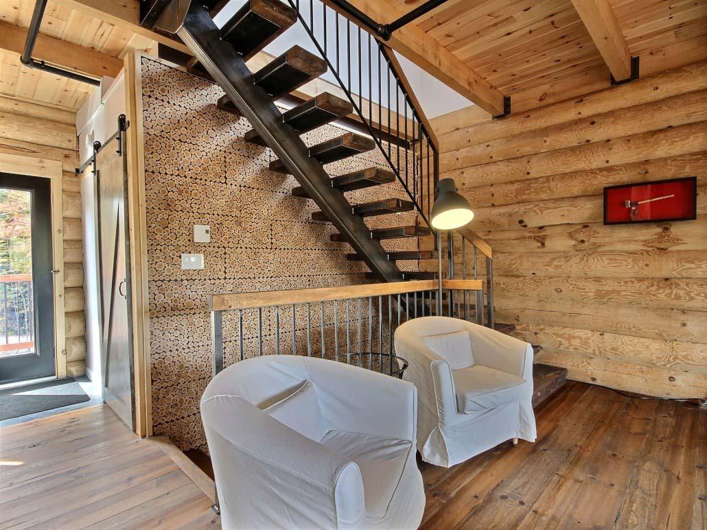 Escalier Chalet Le Calumet