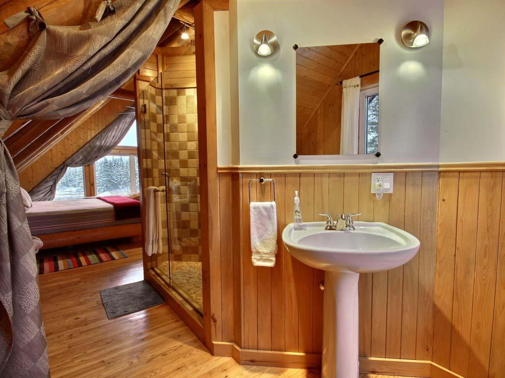 Salle de bain des maitres Chalet Capteur-de-Rêves
