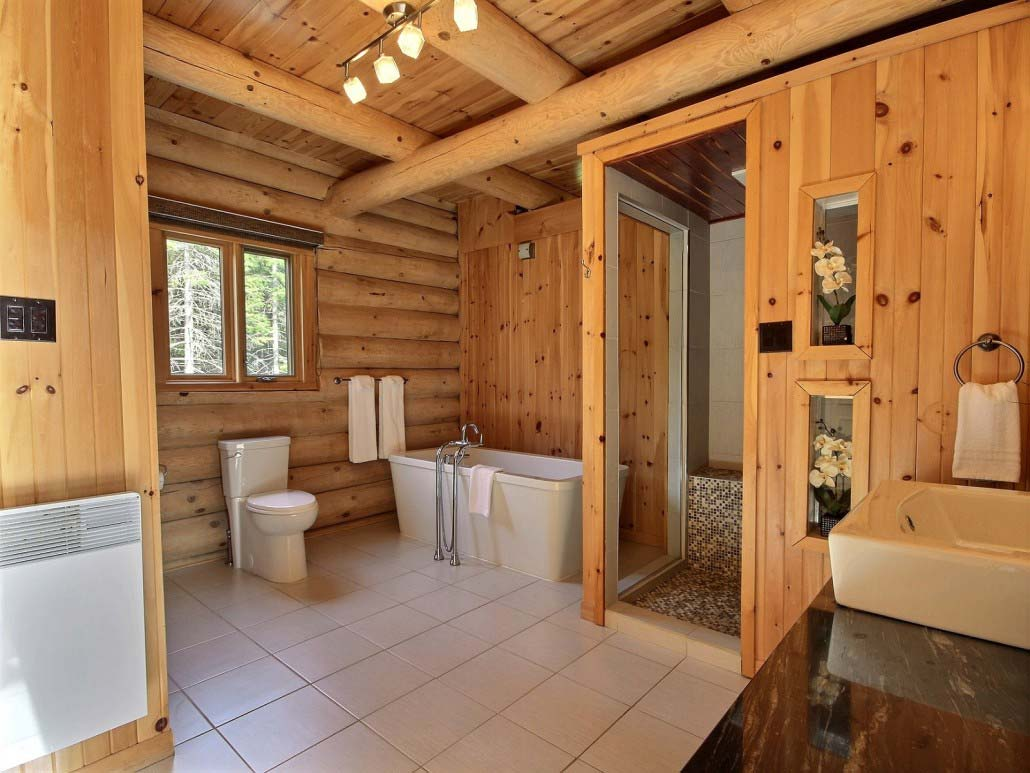 Salle de bain-2 Chalet Carcajou