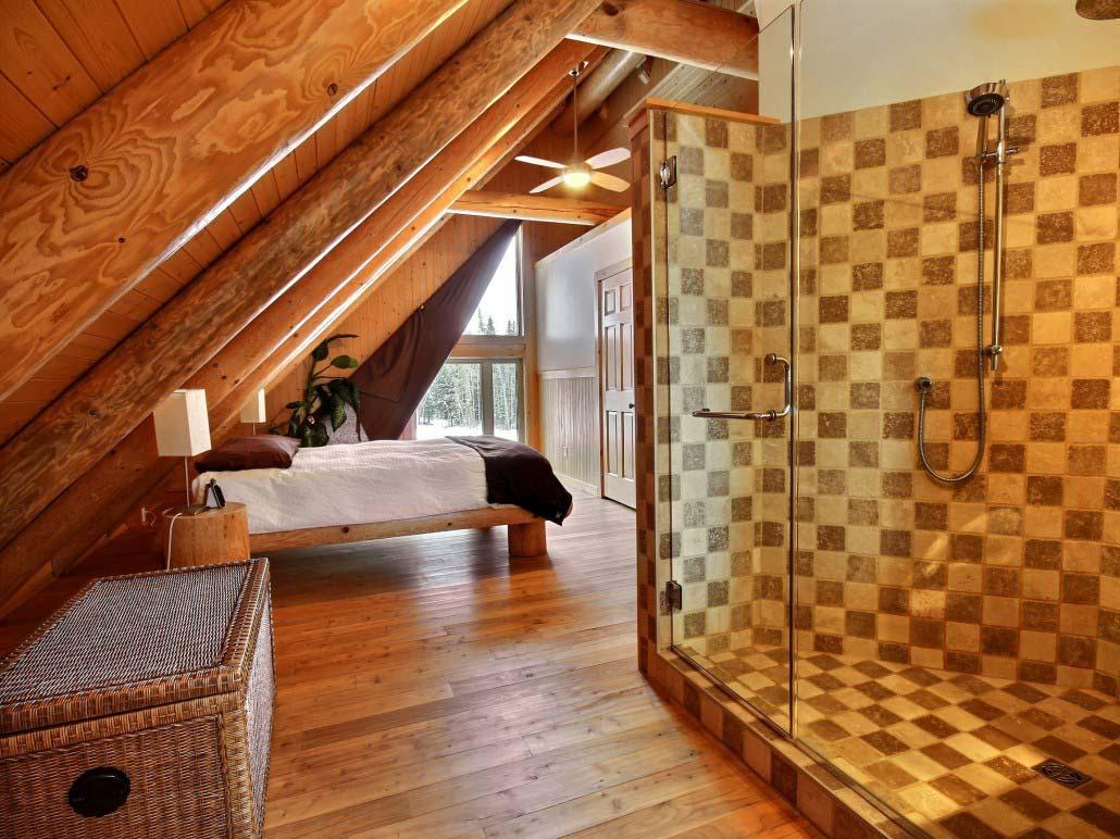 Salle de bain des maîtres Chalet Le Castor