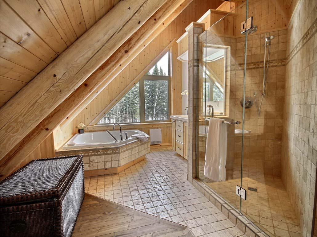 Salle de bain des maîtres Chalet Écureuils
