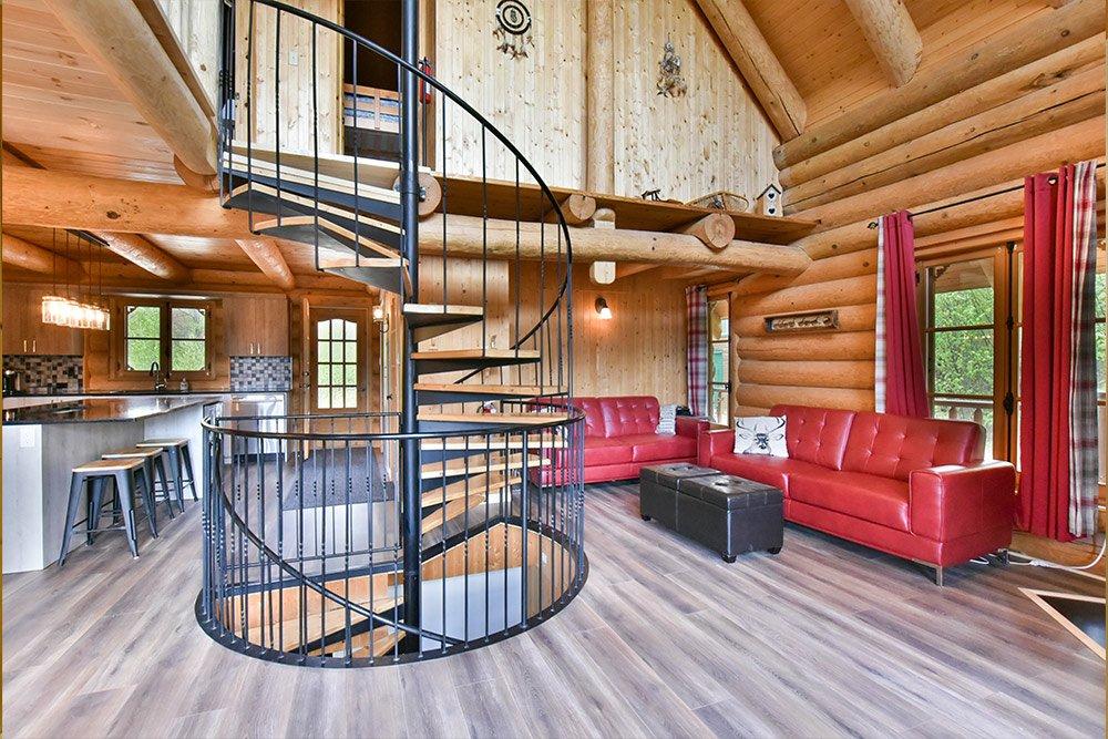 Salle de détente Chalet Klondike